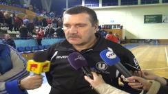 Declarații de presă oferite de antrenorul Gheorghe Covaciu și jucătoarea Mihaela Tivadar (ambii U Jolidon Cluj) la finalul meciului U Jolidon - HC Danubius Galați 26:24