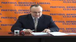 Conferință de presă susținută de Petru Călian, vicepreședintele PDL Cluj