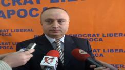 Declarații de presă oferite de Petru Călian, vicepreședintele PDL Cluj, după conferința de presă