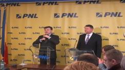 Conferință de presă susținută de Președintele PNL, Crin Antonescu și  primarul Sibiului, Klaus Iohannis