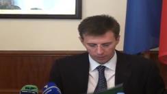 Ceremonia de semnare a contractului dintre Primăria municipiului Chișinău și Banca Europeană pentru Reconstrucție și Dezvoltare, pentru procurarea a 90 de troleibuze noi