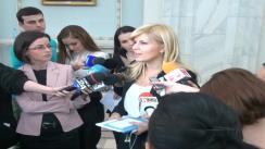 Declarații de presă susținute de deputatul PDL, Elena Udrea după Consiliul Național de Coordonare a PDL din 23 februarie 2013