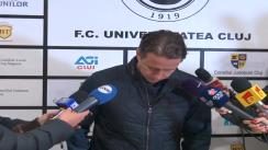 Conferință de presă după meciul Universitatea Cluj - Steaua București