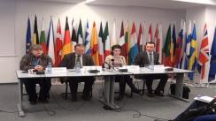 Conferința de presă susținută de Daniela Ionescu, editor al Raportului Național și Niculae Idu, șeful Reprezentanței Comisiei Europene în România, având ca temă lansarea ediției de toamnă (78) a Eurobarometrului de Opinie Publică