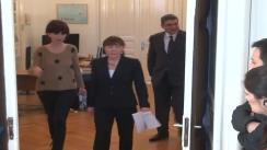 """Depunerea moțiunii """"Reformiștii"""" de către candidatul pentru funcția de președinte al PDL, Monica Macovei"""