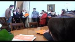 """Depunerea Moțiunii """"Noul Partid Democrat. O Noua Românie"""" de către candidatul pentru funcția de președinte al PDL, Elena Udrea"""