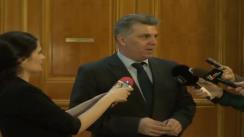Declarații de presă susținute de președintele Camerei Deputaților, Valeriu Zgonea, după întâlnirea cu Grupul Parlamentar al PP-DD