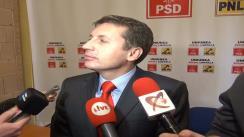Declarații de presă oferite de Ioan Petran, noul președinte PNL Cluj-Napoca, și Horea Uioreanu, președintele Consiliului Județean Cluj