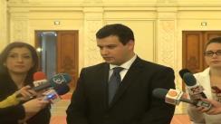 Declarații de presă susținute de deputatul PDL, Eugen Tomac, cu referire la căderea guvernului Filat