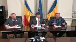 Conferință de presă susținută de un grup de parlamentari ai Partidului Democrat Liberal și Forța Civică