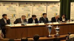 Conferință de presă organizată de Ministerul Educației Naționale și de Federația Sportului Școlar și Universitar, în parteneriat cu Federația Română de Fotbal