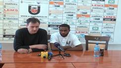 Conferința de presă premergătoare meciului U Mobitelco - Energia Rovinari