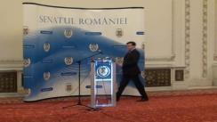 Conferință de presă susținută de președintele Senatului României, Crin Antonescu