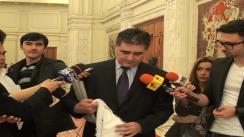 Declarații de presă susținute de senatorul PNL, Ioan Ghișe