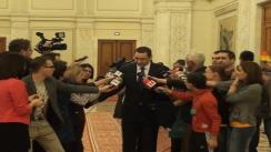 Declarații de presă susținute de prim-ministrul României, Victor Ponta, după adresarea Președintelui României, Traian Băsescu, către Parlamentul României
