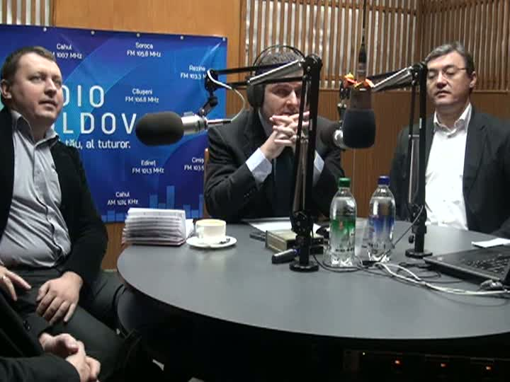 "Radio Moldova. ""Spațiul Public"". Invitați - Dorin Chirtoacă, Grigore Petrenco, Iurie Chiorescu, Igor Corman"