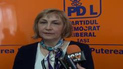 Declarațiile de presă al deputatului PDL, d-na Camelia Bogdanici la Iași