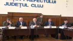 Conferință de presă organizată de Prefectura Cluj