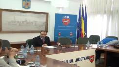 Conferință de presă susținută de Președintele Consiliului Județean Iași, dl. Cristian Adomniței