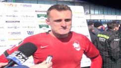 Declarații de presă oferite după CSM Știința Baia Mare - U Cluj, meci contând pentru etapa I din cadrul SuperLiga CEC Bank la rugby