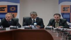 Conferința de presă susținută de președintele Consiliului JudețeanCluj, dl.Horea Uioreanu