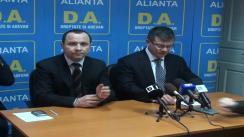 Conferință de presă susținută de Președintele Forței Civice, Mihai Răzvan Ungureanu și de  Domnul Aurelian Pavelescu - Președintele PNȚCD