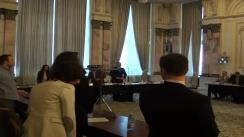 """Dezbaterea cu tema """"27 martie 1918 - Unirea Basarabiei cu România, model pentru integrarea europeană a Republicii Moldova"""""""