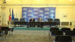 Conferință de presă susținută de deputații Dinu Giurescu și Ion Diniță (Grup parlamentar al PC)