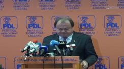 Conferință de presă susținută de Vasile Blaga după ședința Biroului Permanent Național al PDL