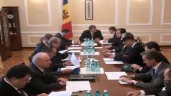 Ședința Consiliului Suprem de Securitate. Imagini protocolare