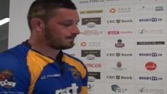Declarații de presă după meciul de rugby Universitatea Cluj - RCM Timișoara, meci contând pentru etapa VII SuperLiga CEC Bank