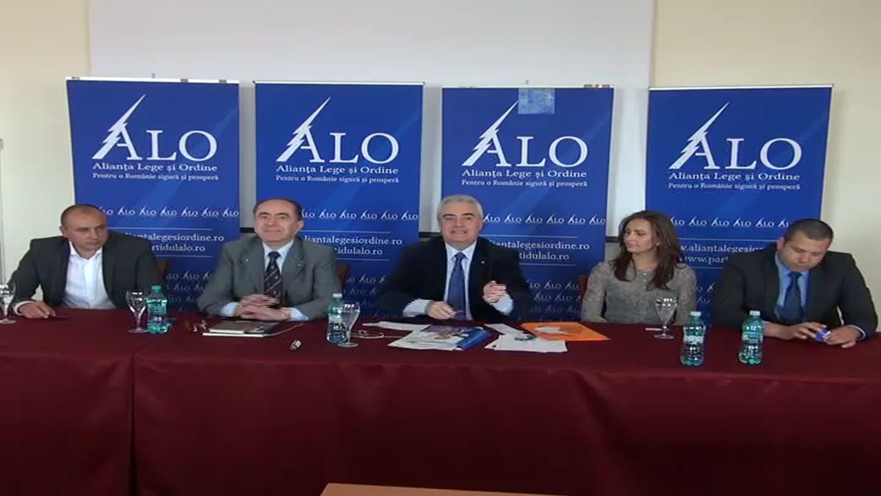 Conferința de presă cu ocazia lansării filialei judeţene a Alianţei Lege şi Ordine