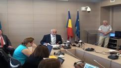 Conferință de presă susținută de ministrul economiei, Varujan Vosganian