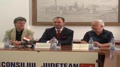 Conferință de presă susținută de către Cristian Adomniței, Președintele Consiliului Județean, Ion Caramitru, Președintele UNITER și George Mihaiță Directorul Teatrului de Comedie din București, la Iași