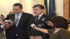 Declarațiile de presă a celor doi lideri ai USL,Crin Antonescu și Victor Ponta