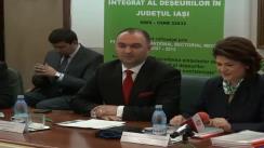 """Semnarea contractului pentru proiectul """"Sistemul de management integrat al deșeurilor"""" între Consiliul Județean Iași și Ministerul Mediului și Schimbărilor Climatice"""