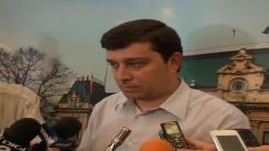 Declarațiil de presă al purtătorului de cuvânt al Primăriei Municipiului Iași, Sebastian Buraga