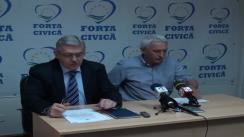 Conferință de presă susținută de Partidul Forța Civică