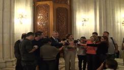 Declarații de presă susținute de Andrei Chiliman, Primarul Sectorului 1 și deputatul PNL Diana Tușa după ședința Delegației Permanente al Partidului Național Liberal
