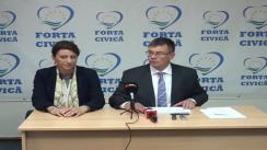 Conferință de presă susținută de președintele partidului Forța Civică, Mihai Răzvan Ungureanu, pe tema revizuirii Constituției