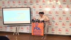 Conferință de presă susținută de prim-vicepreședintele PDL, Anca Boagiu