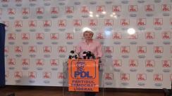 Conferință de presă susținută de prim-vicepreședinte al PDL, Andreea Paul