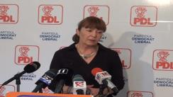 Conferință de presă susținută de europarlamentarul PDL, Monica Macovei