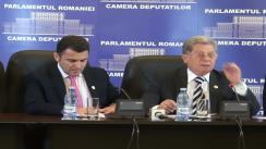 Conferință de presă susținută de deputații Grigore Crăciunescu și Mircea Dolha (Grup PNL)