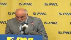 Conferință de presă susținută de vicepreședintele PNL, Varujan Vosganian