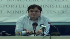 Conferință de presă susținută de Ministerul Tineretului și Sportului