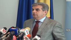 Declarație de presă susținută de ministrul Sănătății, Eugen Nicolăescu