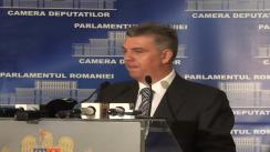 Declarație de presă susținută de Președintele Camerei Deputaților, Valeriu Zgonea