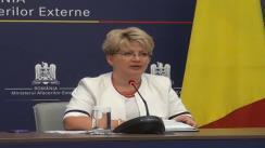 Briefing de presă pe teme de actualitate, susținut de purtătorul de cuvânt al MAE, Brândușa Predescu