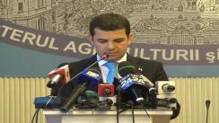 Conferință de presă susținută de ministrul Agriculturii și Dezvoltării Rurale, Daniel Constantin